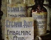SALE - Eternal Rest, 1927  - Embalming Fluid Stickers
