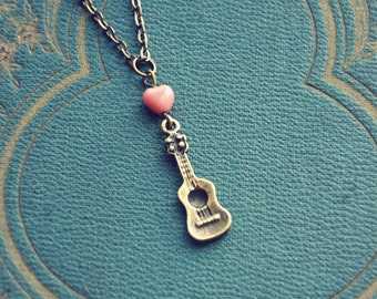 ukulele love necklace.