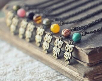 petite owl necklace.