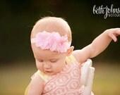 Pink Easter Headband.Pink Baby Headbands.Baby Girl Headbands.Newborn Headband.Pink Flower Headband.Baby Headband.Infant Headband.Baby Bow