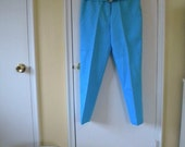 1950s Amazing Turquoise Cropped Pants