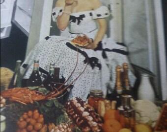 Vintage French Ad Frigidaire 1951 Midcentury Kitchen