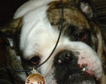 Custom Pet Tag Copper Pendant CS112
