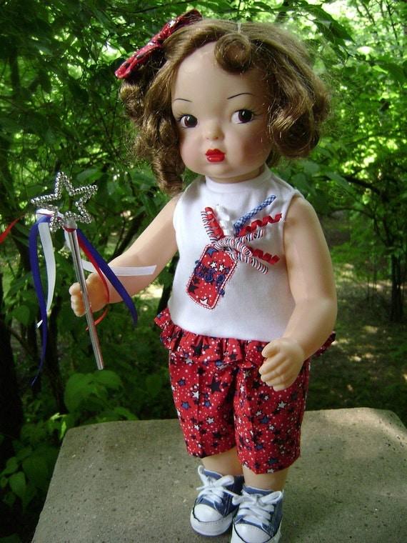 Patriotic  Korker Ribbon Capri Outfit for Vintage Terri Lee Dolls NEW