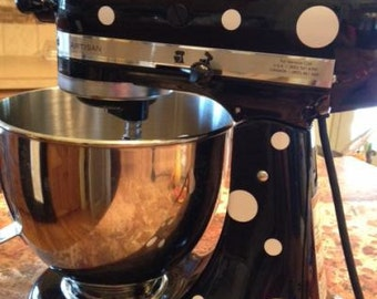 Polka dots for your KITCHENAID stand mixer - personalize, bake, decals, dots, circles,