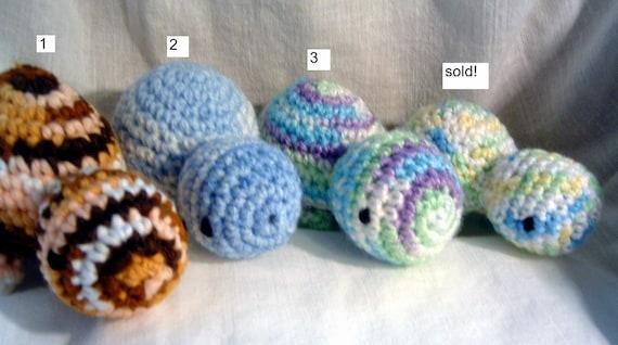 Turtle, amigurumi, crochet, various colors
