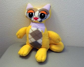 Patchwork Kitty Cat Plush - Alfie