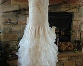 1920s Vintage Inspired Wedding dress bridal gown flapper wedding dress handmade to order