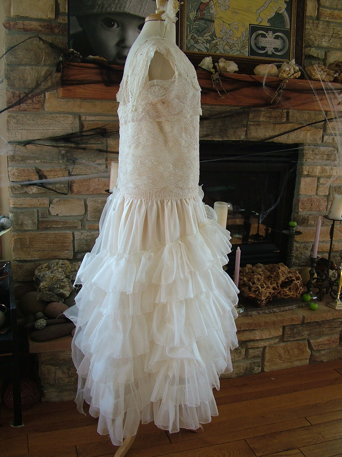 1920s vintage inspired wedding dress by retrovintageweddings for Vintage wedding dresses 1920s