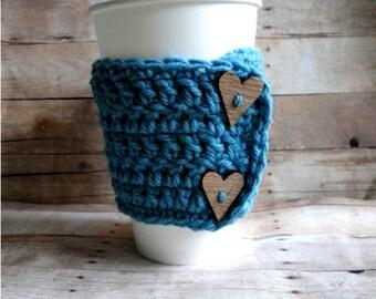 "PATTERN download PDF Coffee cozy mug warmer ""Cuppa Love Cozy Pattern"""