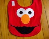 Elmo Sesame Street Baby Bib Made to Order