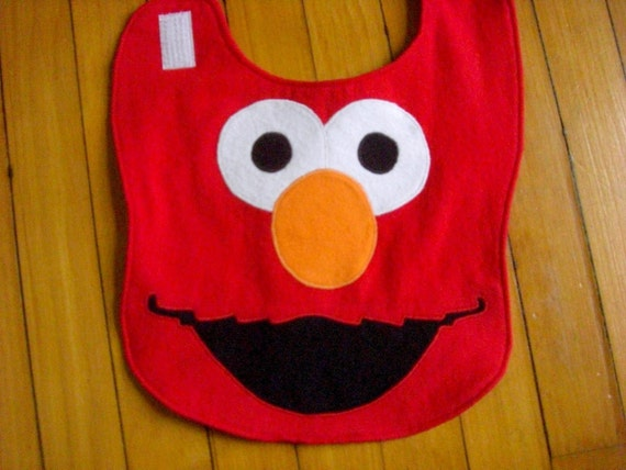 Elmo Sesame Street Baby Bib Made to Order
