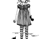 Art - Print - Black and White - Scary Mary
