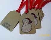 Santa Tags Christmas Tags Santa Claus Set of 6