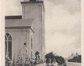 After Rehearsal, North Congregational Church, Nantucket post card. Gardiner black & white.