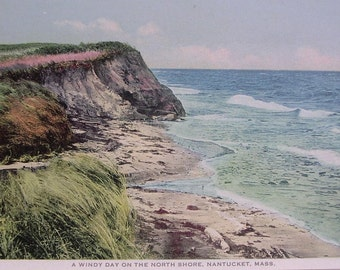 A Windy Day on the North Shore, Nantucket Post Card, H. Marshall Gardiner.