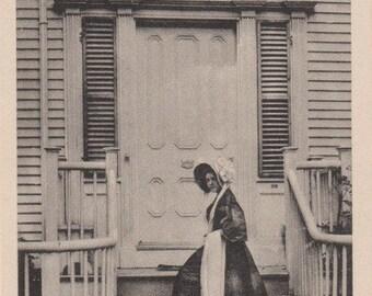 The Macy Door, Nantucket post card. Gardiner, black & white.