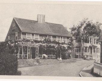Wisteria Lodge, Nantucket post card. Gardiner black & white.