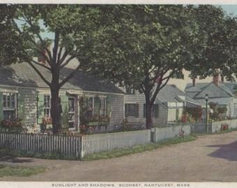 Sconset, Sunlight and Shadows, Nantucket Post Card, H. Marshall Gardiner.