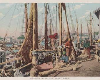 Mending Twine, Nantucket postcard. Gardiner, PHOSTINT