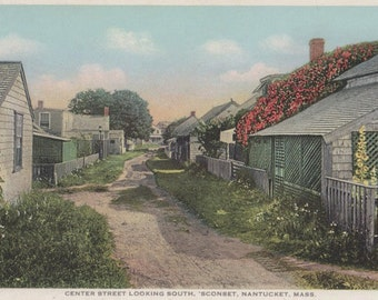 Center Street Looking South, Sconset, Nantucket postcard. Gardiner, PHOSTINT