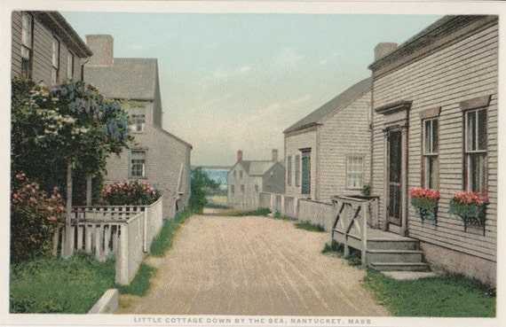 Little Cottage Down By the Sea, Nantucket Post Card, H. Marshall Gardiner.