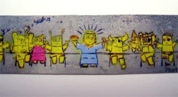 Jesus Magnet, last supper magnet, graffiti magnet, tel aviv magnet, tiny, small, miniature