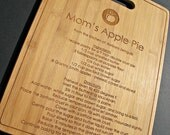 Family Recipe - Custom Engraved Bamboo Cutting Board - 9.5x13 - Personalized