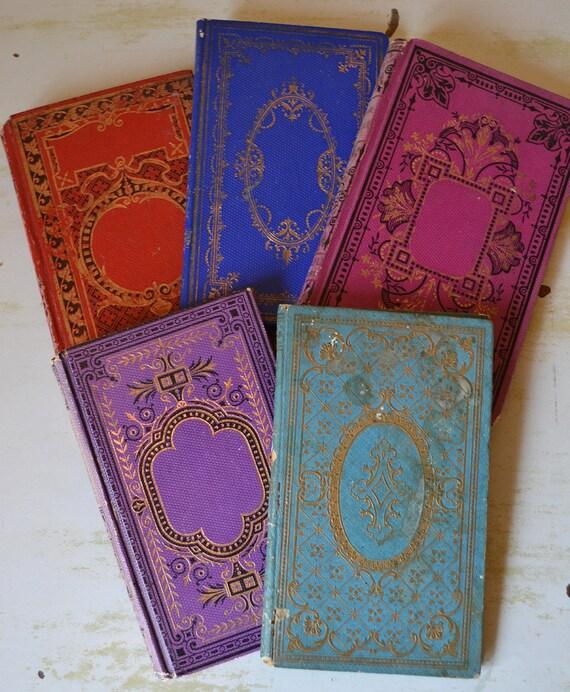 Divine Bundle of Antique French Decorative Children's Books c. 1880