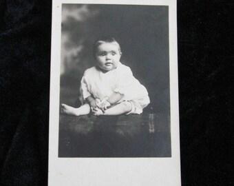 Baby Photograph Postcard   Circa 1910   RPPC - Baby Boy