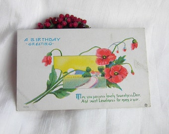 The Lane Home     Vintage Postcard             S. Bergman Copyright 1912