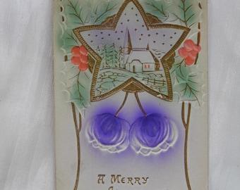 Early 1900 Christmas Scene  Postcard