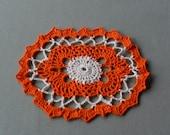 Autumn Path Crochet Doily
