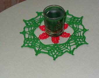 Crochet Christmas Wreath Doily