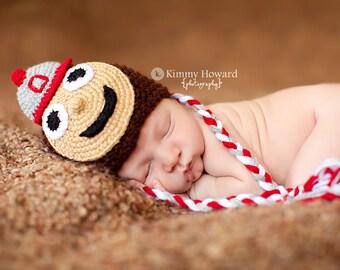 Newborn photo prop, Ohio State Buckeyes newborn/ baby hat.newborn boy, newborn hat, newborn props, photography prop for baby, newborn girl