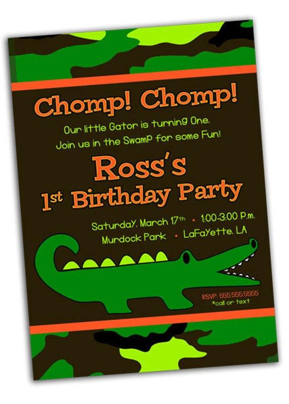 Items Similar To Alligator Crocodile Camo Swamp Birthday