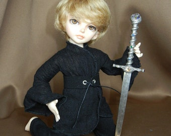 "Black Boy's Renfair Outfit for LittleFee / Yo-SD /10"" BJD"