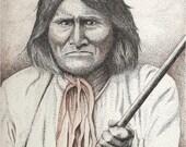 Geronimo - 11 x 14 Matted Print