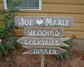 Wood Wedding Signs Charming Romantic Outdoor Weddings Arrow Cocktails Pointing Dinner Sign Parking sign Reception Sign Party Signs Bar sign