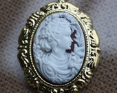 BLACK FRIDAY SALE Vintage Inspired Victorian Lady Cameo Necklace