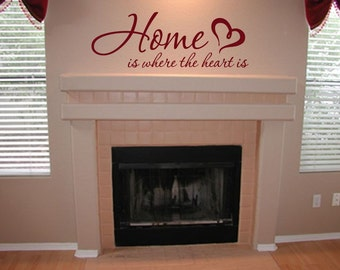 Home is where the Heart is 01 Vinyl Wall Art Quote Decal - Wall Decor - WD0129