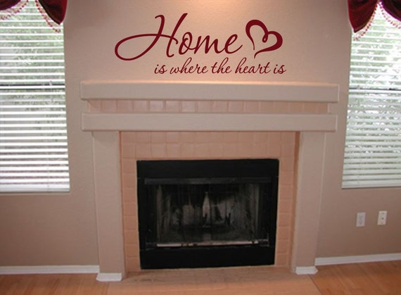 Home Is Where The Heart Is 01 Vinyl Wall Art Quote Decal