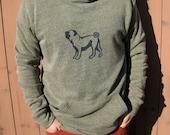 Pug Hoodie, Dog Sweater, Men's Pullover, XS-XXL