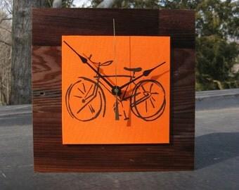 Bicycle Clock, Bike Clock, Modern Wall Clock, Gift for a Guy