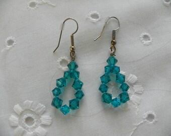 Handmade Earrings Tear Drop Loop Wedding Jewellery Bridal Party Prom Jewelry Gift
