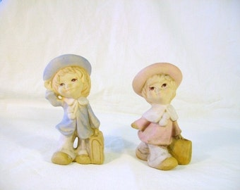 Pair of Child Figurines - UCTCI