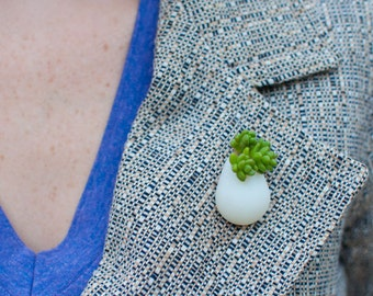 Wearable Planter No. 6, Lapel Pin
