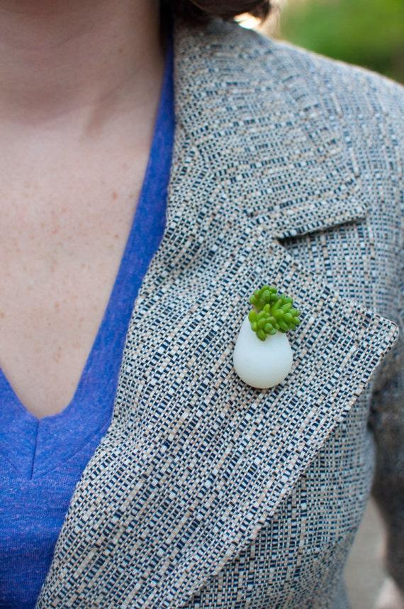 Wearable Planter No. 6, Lapel Pin
