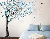 Tree Wall decal, Children baby decal, Bedroom Tree Decal, Family Tree Decal -Gone with the wind(78inch H) -Vinyl Wall Art PT-0049