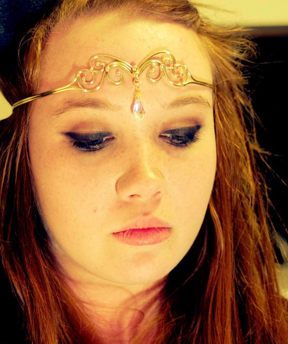 Bronze & Crystal Circlet